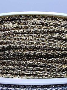Galantéria - Točené šnúrky - 1 m výpredaj (Zlatá   X 7000) - 10424114_