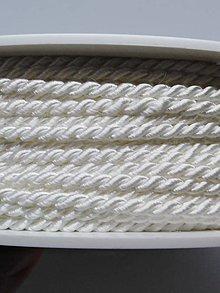 Galantéria - Točené šnúrky - 1 m (Biela  B 1101) - 10424127_