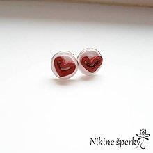 Náušnice - Srdiečka z lásky - 10424301_