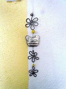 Dekorácie - Veľký jarný záves tepaný (29 cm) - 10422218_