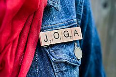 Odznaky/Brošne - Povedz to brošňou - Joga - 10422870_