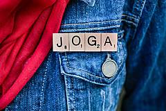 Odznaky/Brošne - Povedz to brošňou - Joga - 10422871_