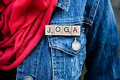 Odznaky/Brošne - Povedz to brošňou - Joga - 10422872_