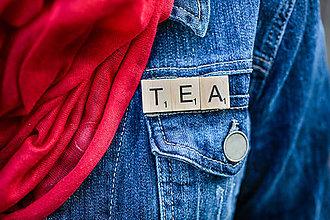 Odznaky/Brošne - Povedz to brošňou - Tea - 10422895_
