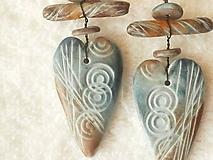 Náušnice - Náušnice z polyméru, s láskou 2 - 10422382_