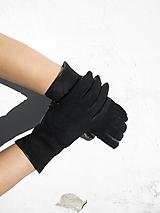 Rukavice - Výprodej-semišové rukavice s hedvábnou podšívkou - 10425951_