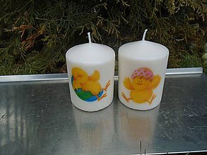 Svietidlá a sviečky - veselé kuriatka - 10423894_