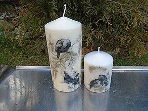 Svietidlá a sviečky - vtáčiky - 10423950_