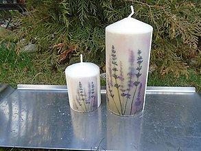 Svietidlá a sviečky - levanduľa - 10423967_