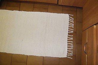 Úžitkový textil - Tkaný koberec maslovej farby - 10425943_