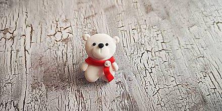 Odznaky/Brošne - ľadový macko - 10422943_
