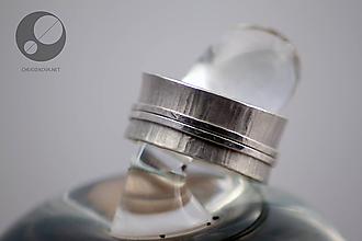 Prstene - Kinetický strieborný prsteň - 10427404_