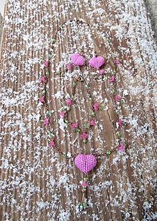 Sady šperkov - srdiečkový set ružový - 10429066_