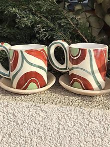Nádoby - Farebné  kávičkové - 10427212_