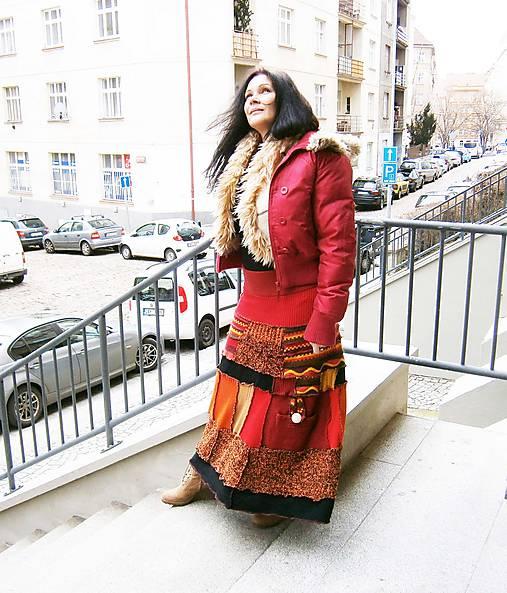 lel etno vlnená karmen- maxi sukňa