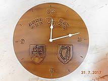 Hodiny - Kožené hodiny - Slovensko + Írsko - 10428806_