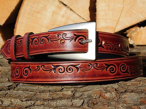 Kožený opasok 2,5 cm - Dark Red