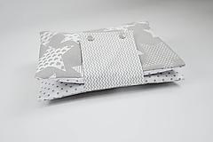 Detské doplnky - Organizér na plienky sivo-biele hviezdičky mix - 10426354_