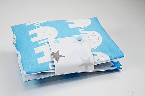 Organizér na plienky bielo-modrý sloníkový