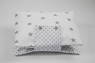 Detské doplnky - Obal na plienky sivé hviezdičky na bielom - 10426373_