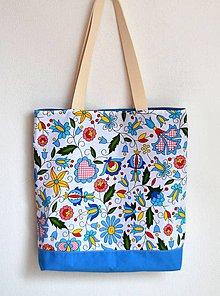 Nákupné tašky - Obojstranná taška-Pestrá s mandalou - 10427889_