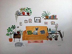 Obrazy - Macicky pre Renatku ilustracia - 10429937_