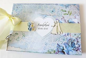 Papiernictvo - svadobná kniha hostí - 10427219_