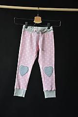Detské oblečenie - Maia nohavice baby pink 110 - posledný kus! - 10427900_