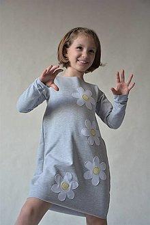 Detské oblečenie - Teplákové oversize šaty/tunika Margaréta - 10427112_