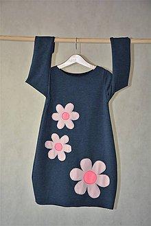 Detské oblečenie - Teplákové oversize šaty/tunika Jeanny - 10427656_