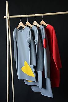 Detské oblečenie - Teplákové šaty/tunika Bealoo Heart - 10427858_