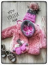 Detské čiapky - Set čiapka, tunel, rukavičky - 10426867_