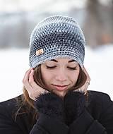 Čiapky - Sivá melírovaná čiapka - 10429922_