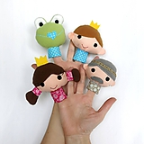 Hračky - Sada maňušiek na prst - Rozprávka Žabí princ  - 10428504_