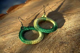 Náušnice - Náušnice Háčko zelené - 10428290_