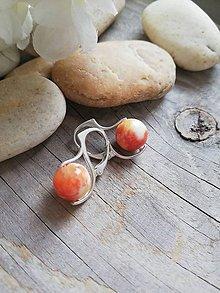 Náušnice - Jadeit oranžovo žltý - 10430471_