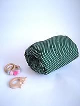 Textil - zelený bodKojovankúš - 10427976_