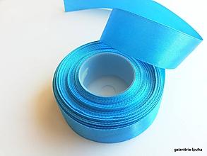 Galantéria - stuha saténová 25mm/modrá - 10426809_