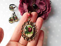 Sady šperkov - Bordová ruža III. - 10428875_