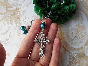 Sady šperkov - Starostrieborný krížik II. - 10429116_