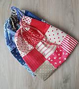Úžitkový textil - Vrecúška modré  a červené - 10430061_