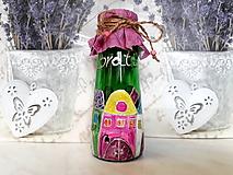 Nádoby - maľovaná fľaša Bratislava :-) - 10430297_
