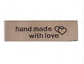 Galantéria - NT104 Nášivka textilná hand made 5 cm - 10430373_