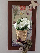 Dekorácie - Originální obrázek s košíčkem a knopkou2 - 10428604_
