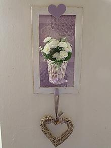 Dekorácie - Originální obrázek s košíčkem a knopkou1 - 10428085_