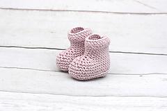 Bledoružové papučky zimné EXTRA FINE