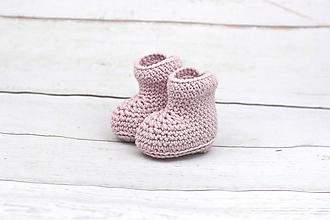 Topánočky - Bledoružové papučky zimné EXTRA FINE - 10427646_