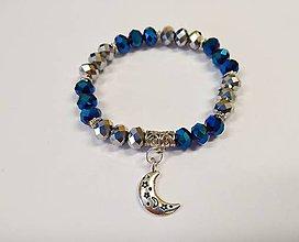 Náramky - Modro-čierny mesiac - 10427394_