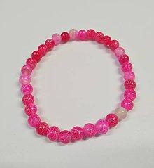 Náramky - Ružový achát - 10427796_