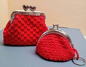 Peňaženky - Háčkovaná peňaženka a kľúčenka-sada - 10427762_